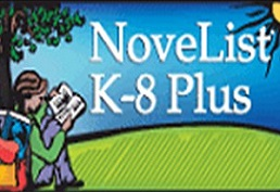 Novelist K through 8 plus with a child reading book under a tree